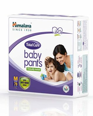 Himalaya Total Care Baby Pants Diapers, Medium,